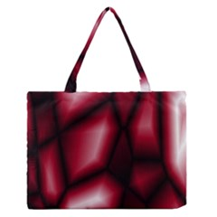 Red Abstract Background Medium Zipper Tote Bag