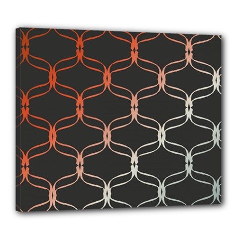 Cadenas Chinas Abstract Design Pattern Canvas 24  X 20