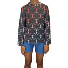 Cadenas Chinas Abstract Design Pattern Kids  Long Sleeve Swimwear