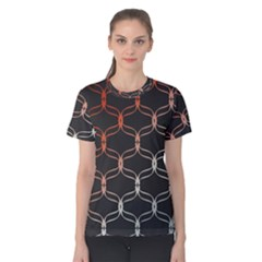 Cadenas Chinas Abstract Design Pattern Women s Cotton Tee