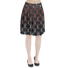 Cadenas Chinas Abstract Design Pattern Pleated Skirt