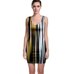 Digitally Created Striped Abstract Background Texture Sleeveless Bodycon Dress