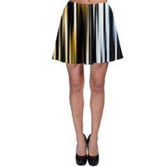 Digitally Created Striped Abstract Background Texture Skater Skirt