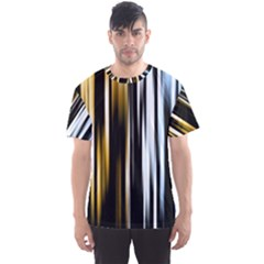 Digitally Created Striped Abstract Background Texture Men s Sport Mesh Tee