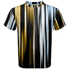 Digitally Created Striped Abstract Background Texture Men s Cotton Tee