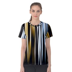 Digitally Created Striped Abstract Background Texture Women s Cotton Tee