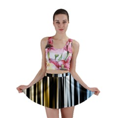 Digitally Created Striped Abstract Background Texture Mini Skirt