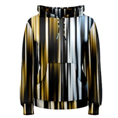 Digitally Created Striped Abstract Background Texture Women s Pullover Hoodie