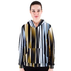 Digitally Created Striped Abstract Background Texture Women s Zipper Hoodie