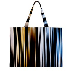 Digitally Created Striped Abstract Background Texture Zipper Mini Tote Bag