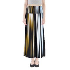 Digitally Created Striped Abstract Background Texture Maxi Skirts