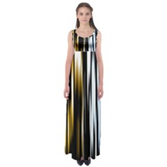 Digitally Created Striped Abstract Background Texture Empire Waist Maxi Dress