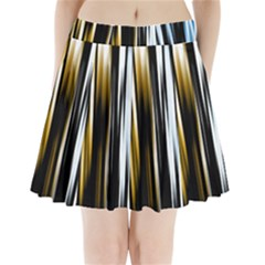 Digitally Created Striped Abstract Background Texture Pleated Mini Skirt