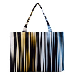 Digitally Created Striped Abstract Background Texture Medium Tote Bag