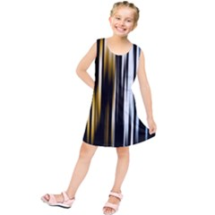 Digitally Created Striped Abstract Background Texture Kids  Tunic Dress