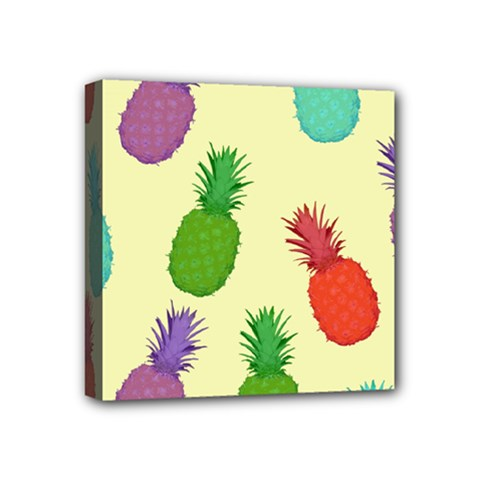 Colorful Pineapples Wallpaper Background Mini Canvas 4  X 4