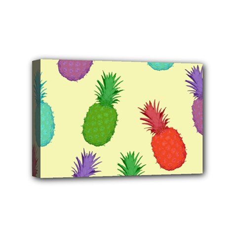 Colorful Pineapples Wallpaper Background Mini Canvas 6  X 4