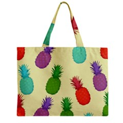 Colorful Pineapples Wallpaper Background Mini Tote Bag
