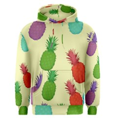 Colorful Pineapples Wallpaper Background Men s Pullover Hoodie