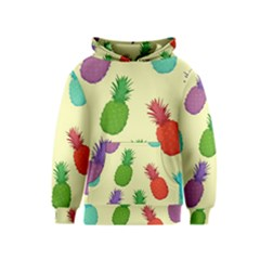 Colorful Pineapples Wallpaper Background Kids  Pullover Hoodie