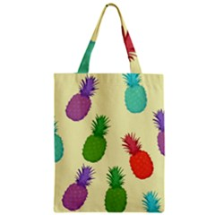 Colorful Pineapples Wallpaper Background Zipper Classic Tote Bag