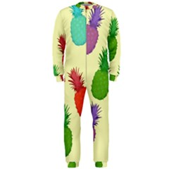 Colorful Pineapples Wallpaper Background OnePiece Jumpsuit (Men)