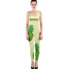 Colorful Pineapples Wallpaper Background OnePiece Catsuit