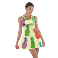Colorful Pineapples Wallpaper Background Cotton Racerback Dress