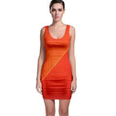 Abstract Clutter Baffled Field Sleeveless Bodycon Dress