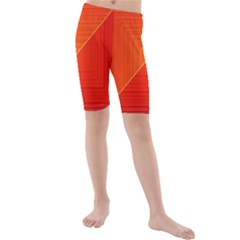 Abstract Clutter Baffled Field Kids  Mid Length Swim Shorts
