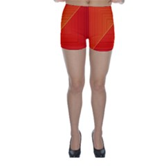 Abstract Clutter Baffled Field Skinny Shorts