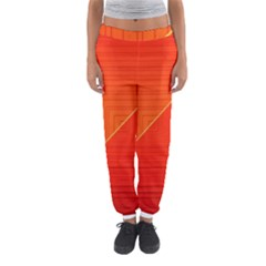 Abstract Clutter Baffled Field Women s Jogger Sweatpants