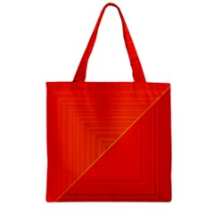 Abstract Clutter Baffled Field Zipper Grocery Tote Bag