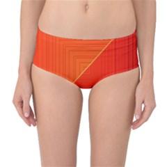 Abstract Clutter Baffled Field Mid-Waist Bikini Bottoms