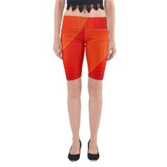 Abstract Clutter Baffled Field Yoga Cropped Leggings