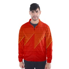 Abstract Clutter Baffled Field Wind Breaker (men)