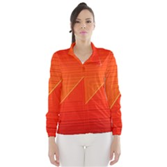 Abstract Clutter Baffled Field Wind Breaker (women)