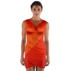 Abstract Clutter Baffled Field Wrap Front Bodycon Dress