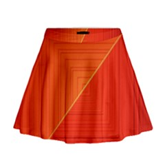 Abstract Clutter Baffled Field Mini Flare Skirt