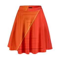 Abstract Clutter Baffled Field High Waist Skirt