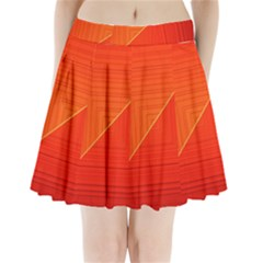 Abstract Clutter Baffled Field Pleated Mini Skirt