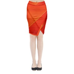 Abstract Clutter Baffled Field Midi Wrap Pencil Skirt
