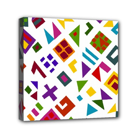 A Colorful Modern Illustration For Lovers Mini Canvas 6  X 6