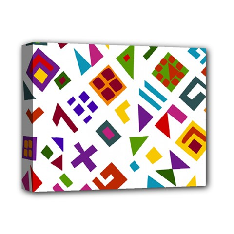 A Colorful Modern Illustration For Lovers Deluxe Canvas 14  x 11