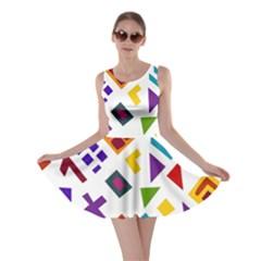 A Colorful Modern Illustration For Lovers Skater Dress