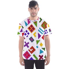 A Colorful Modern Illustration For Lovers Men s Sport Mesh Tee
