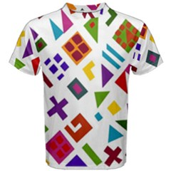 A Colorful Modern Illustration For Lovers Men s Cotton Tee