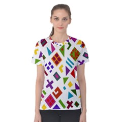 A Colorful Modern Illustration For Lovers Women s Cotton Tee