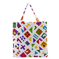 A Colorful Modern Illustration For Lovers Grocery Tote Bag