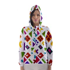 A Colorful Modern Illustration For Lovers Hooded Wind Breaker (Women)